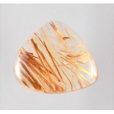 Rutilated Quartz 22x19mm Pear Cut Loose Gemstone Cabochon
