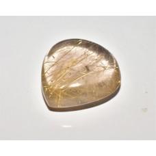 Rutilated Quartz 19x19mm Drop Cut Loose Gemstone Cabochon