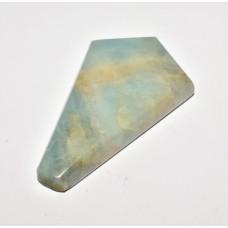 Aquamarine 40x24mm Polygon Cut Loose Gemstone Cabochon