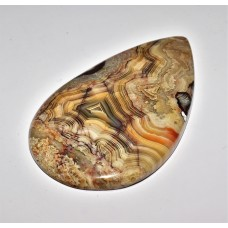 Crazy Lace Agate 64x37mm Pear Cut Loose Gemstone Cabochon