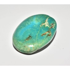 Turquoise (Rough Backed) 40x29mm Loose Oval Gemstone Cabochon