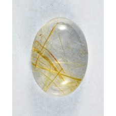 Rutilated Quartz 16x13mm Oval Loose Gemstone Cabochon