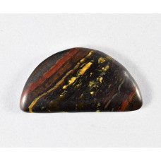 Tiger Iron 24x13mm Semi-Circular Loose Gemstone Cabochon