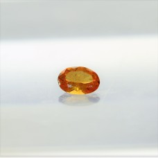 Garnet (Mandarin) 7x5mm Loose Oval Faceted Gemstone
