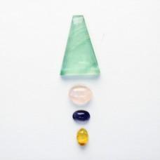 Gem Pack: Fluorite, Rose Quartz, Iolite, Citrine.