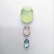 Gem Pack: Prehnite, Rose Quartz, Aquamarine