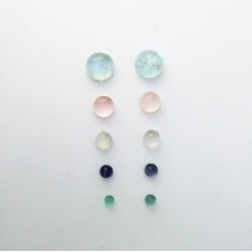 Gem Pack: Aquamarine, Rose Quartz, Moonstone, Iolite, Fluorite