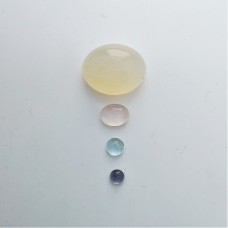 Gem Pack: Moonstone, Rose Quartz, Aquamarine, Iolite
