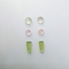 Gem Pack: Moonstone, Rose Quartz, Green Chalcedony,
