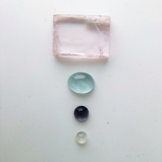 Gem Pack: Kunzite, Aquamarine, Moonstone, Iolite,