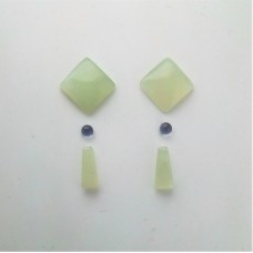 Gem Pack: Green Chalcedony, Iolite