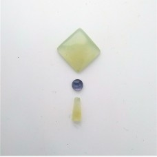 Gem Pack: Green Chalcedony, Iolite