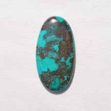 Chrysocolla 44x23mm Oval Cabochon