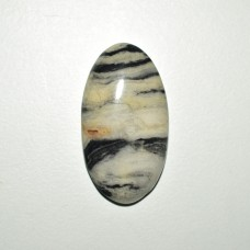 Zebra Jasper 39x21mm Oval Loose Gemstone Cabochon