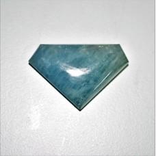 Aquamarine 38x24mm Polygon Cut Loose Gemstone Cabochon