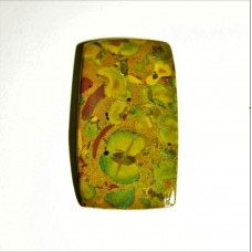 Fruit Jasper 45x26mm Rectangular Loose Gemstone Cabochon