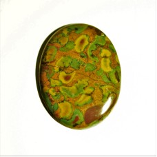 Fruit Jasper 43x32mm Loose Oval Gemstone Cabochon