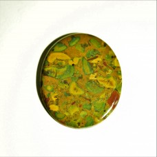 Fruit Jasper 42x35mm Loose Oval Gemstone Cabochon