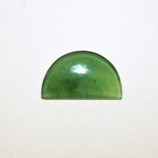 Nephrite Jade 25x15mm Semi Circular Gemstone Cabochon