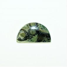 Star Galaxy Jasper Semi Circular Gemstone Cabochon