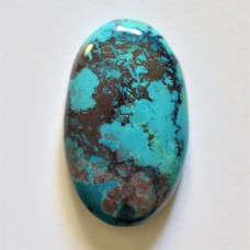 Chrysocolla 33x20mm Oval Cabochon