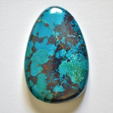 Chrysocolla 42x28mm Drop Cut Cabochon