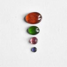 Gem Pack: Hessonite Garnet, Chrome Diopside, Pink Tourmaline and Iolite