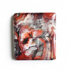 Crazy Lace Agate 28x27mm Rectangular Cabochon