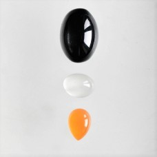 Gem Pack: Black Star Diopside, Moonstone and Carnelian