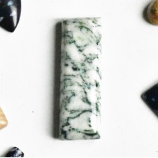 Tree Agate 30x10mm Rectangular Cabochon