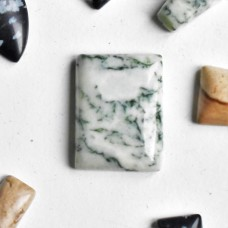 Tree Agate 20x15mm Rectangular Loose Gemstone Cabochon