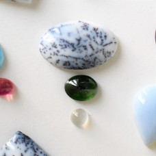Gem Pack: Dendritic Opal, Chrome Diopside and Moonstone