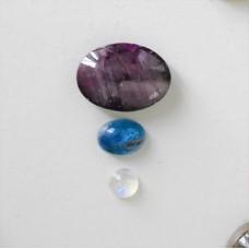 Gem Pack: Ruby, Kyanite and Rainbow Moonstone