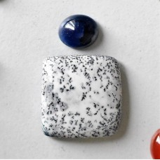 Gem Pack: Dendritic Opal and Sapphire Cabochons