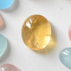 Citrine Cabochon 18x16mm Oval