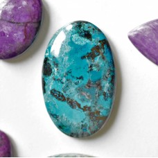Chrysocolla 36x23mm Oval  Cabochon