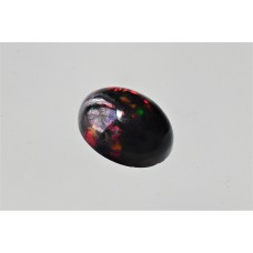 Black Opal 9x7mm Oval Cabochon