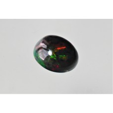 Black Opal 10x9mm Oval Cabochon