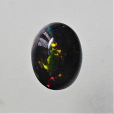 Black Opal 10x8mm Oval Cabochon