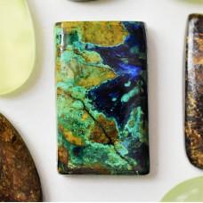 Azurite-Malachite-Chrysocolla 30x18mm Rectangular Cabochon