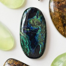 Azurite-Malachite-Chrysocolla 33x17mm Oval  Cabochon