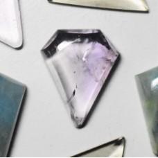 Amethyst 21x17mm Polygon Cut Cabochon