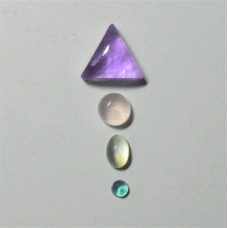 Gem Pack: Amethyst, Rose Quartz, Moonstone, and Fluorite
