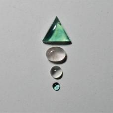 Gem Pack: Fluorite, Rose Quartz, and Moonstone