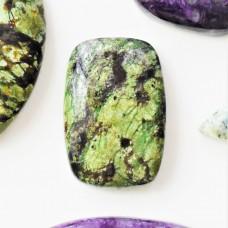Green Opal 29x19mm Rectangular Cabochon