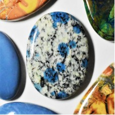 K2 Azurite 37x27mm Oval Cabochon