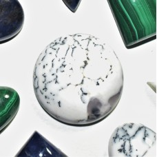 Dendritic Opal 20mm Round Cabochon