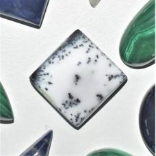 Dendritic Opal 15mm Square Cabochon