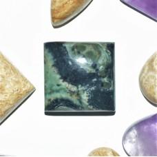 Star Galaxy Jasper 15mm Square Cabochon
