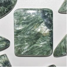 Seraphinite 32x26mm Rectangular Cabochon